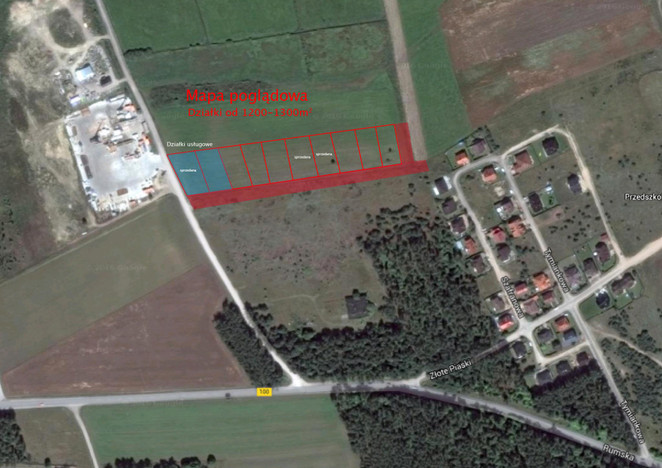 Działka na sprzedaż, Mosty Złote Piaski, 1200 m² | Morizon.pl | 4551