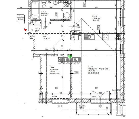 Mieszkanie na sprzedaż, Milanówek, 64 m² | Morizon.pl | 6534