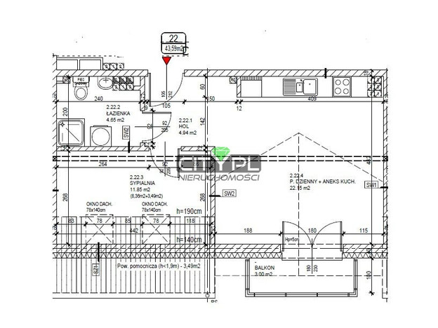 Mieszkanie na sprzedaż, Milanówek, 44 m² | Morizon.pl | 6096