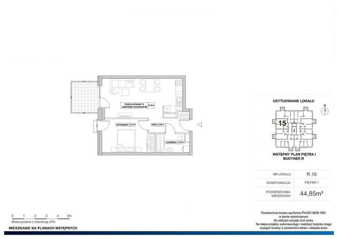 Mieszkanie na sprzedaż, Warszawa Grodzisk, 45 m² | Morizon.pl | 7949