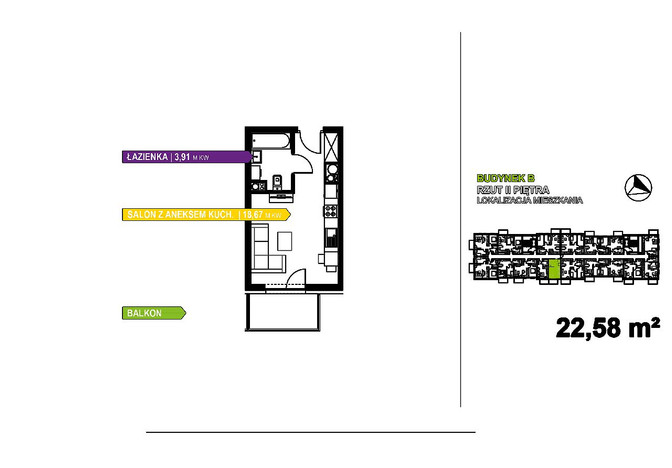 Kawalerka na sprzedaż, Warszawa Czyste, 23 m² | Morizon.pl | 3511