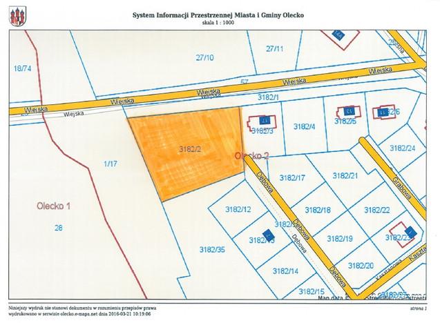 Działka na sprzedaż, Olecko Wiejska, 3141 m² | Morizon.pl | 7307