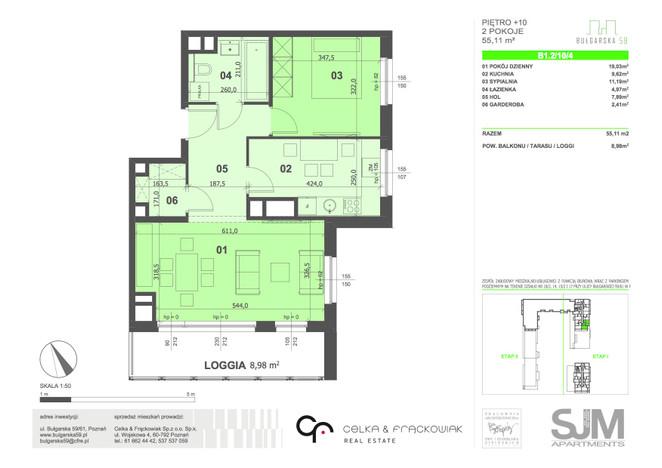 Mieszkanie na sprzedaż, Poznań Grunwald, 55 m² | Morizon.pl | 8034