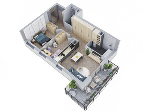 Mieszkanie w inwestycji MIASTECZKO NOVA OCHOTA, Warszawa, 44 m²