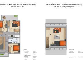 Dom w inwestycji GREEN APARTMENTS 2.0, Kraków, 55 m²