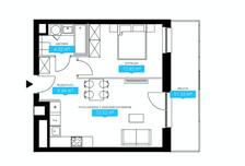 Mieszkanie w inwestycji Wola, ul. Ordona, Warszawa, 46 m²