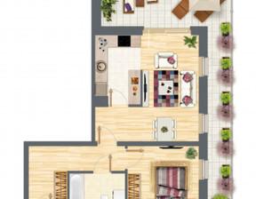 Mieszkanie w inwestycji Słowackiego 77, Gdańsk, 52 m²