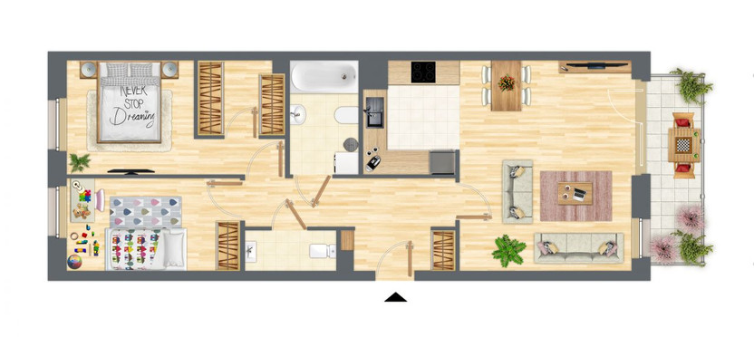 Mieszkanie w inwestycji Słowackiego 77, Gdańsk, 74 m² | Morizon.pl | 9267