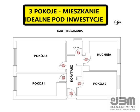 Mieszkanie na sprzedaż, Wrocław Wojnów, 61 m² | Morizon.pl | 6429