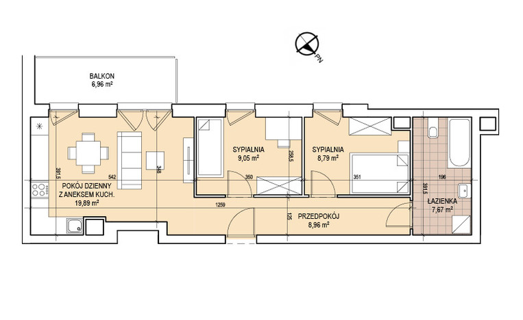 Mieszkanie na sprzedaż, Kraków Zabłocie, 54 m² | Morizon.pl | 2271