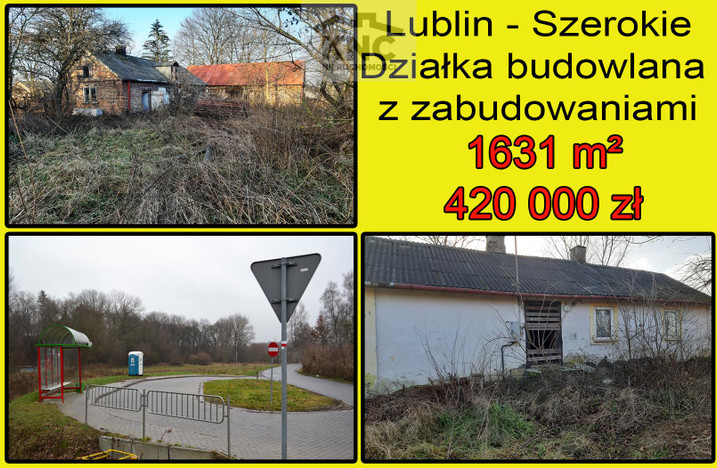 Działka na sprzedaż, Lublin Szerokie, 1631 m² | Morizon.pl | 2210