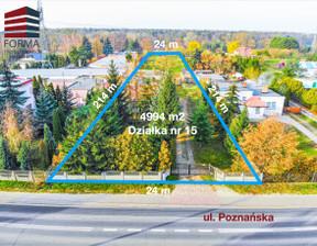Działka na sprzedaż, Czapury Poznańska, 4994 m²