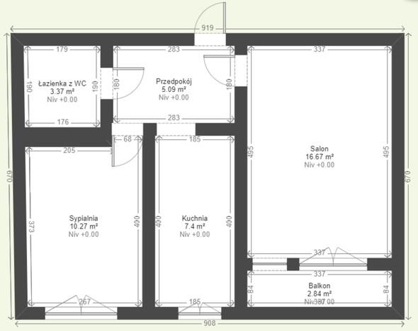 Mieszkanie na sprzedaż, Sosnowiec Śródmieście, 43 m² | Morizon.pl | 6449