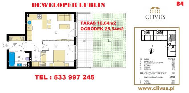 Morizon WP ogłoszenia   Mieszkanie na sprzedaż, Lublin Dziesiąta, 43 m²   6637