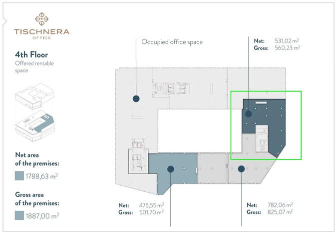 Biuro w inwestycji Tischnera Office, Kraków, 560 m²   Morizon.pl   8333