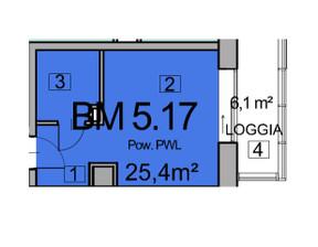 Mieszkanie w inwestycji Deo Plaza, Gdańsk, 25 m²