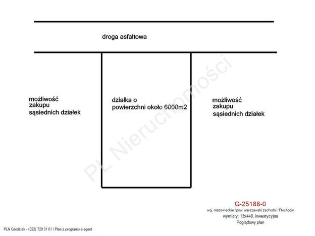 Morizon WP ogłoszenia | Działka na sprzedaż, Płochocin, 6000 m² | 1747