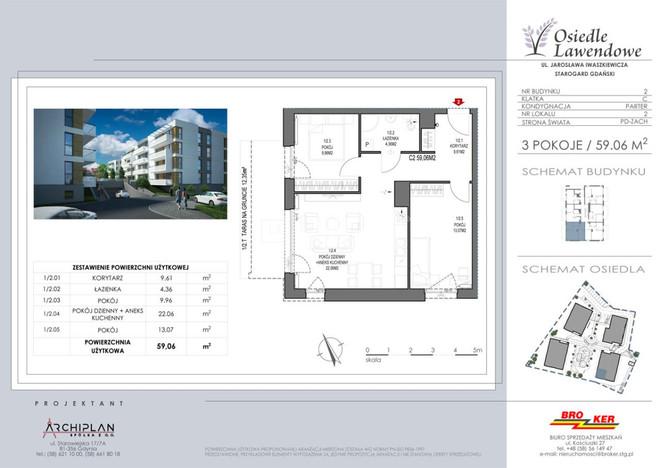 Morizon WP ogłoszenia   Mieszkanie na sprzedaż, Starogard Gdański Iwaszkiewicza , 59 m²   5223
