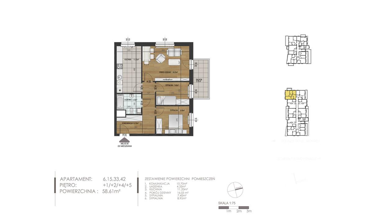 Mieszkanie w inwestycji Mokra 10, Łódź, 59 m²   Morizon.pl   1352