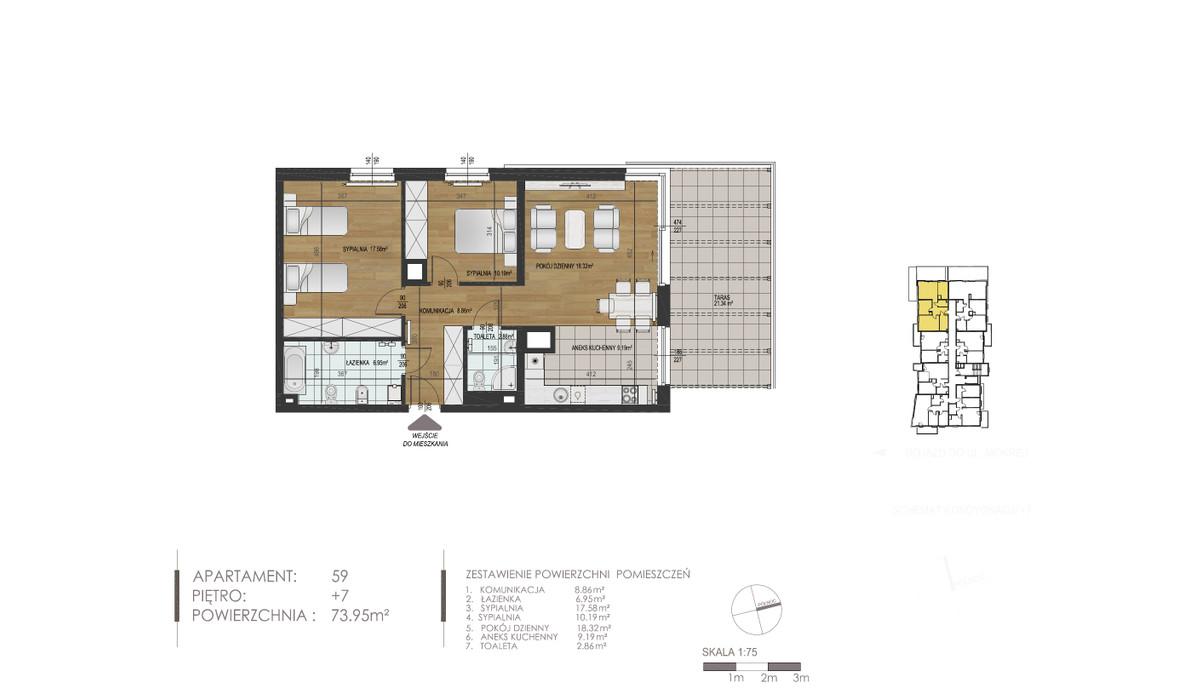 Mieszkanie w inwestycji Mokra 10, Łódź, 74 m²   Morizon.pl   1396