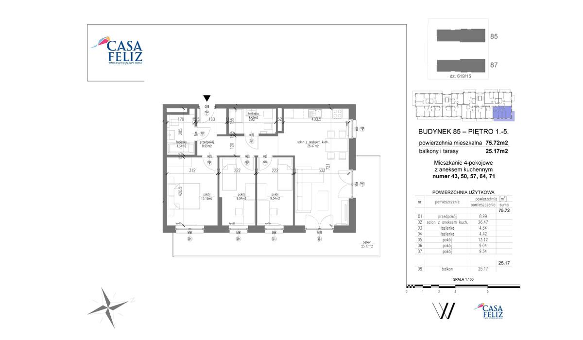 Mieszkanie w inwestycji Casa Feliz etap VI, Kraków, 76 m² | Morizon.pl | 6913