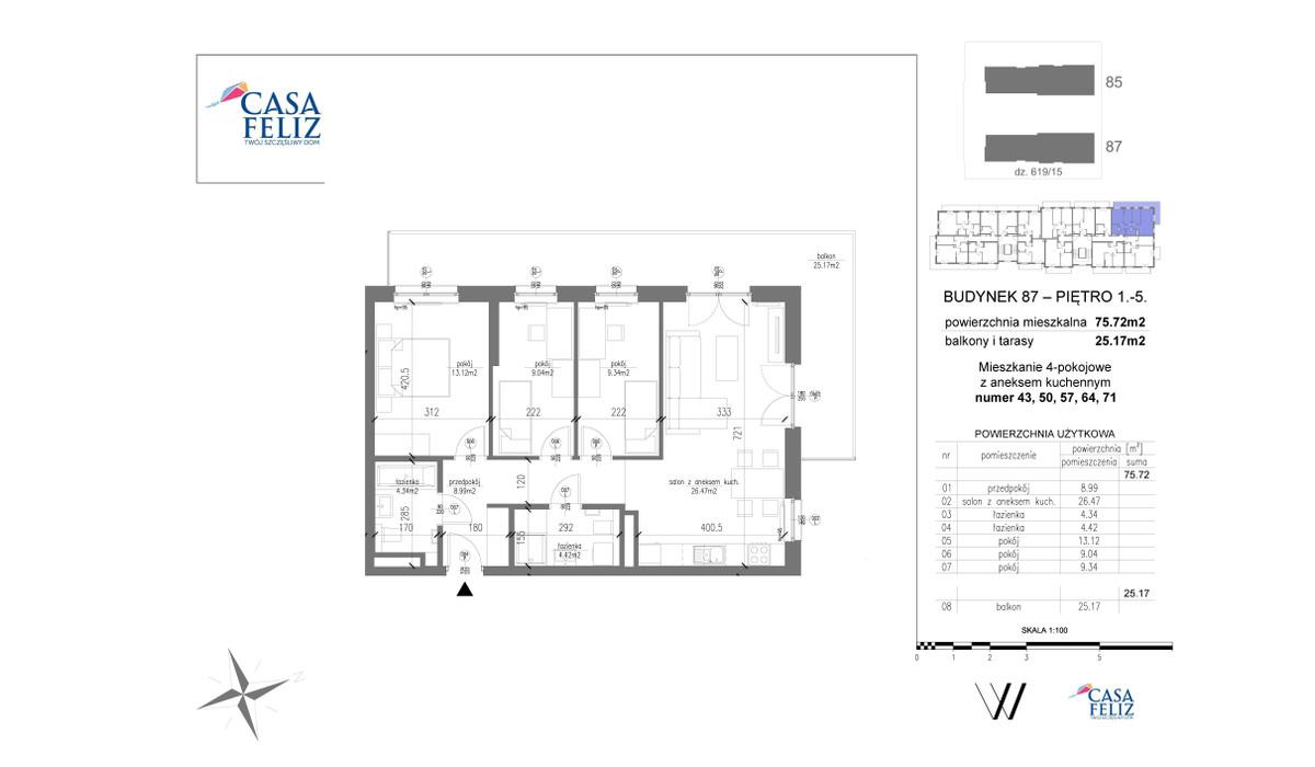 Mieszkanie w inwestycji Casa Feliz etap VI, Kraków, 76 m² | Morizon.pl | 6986