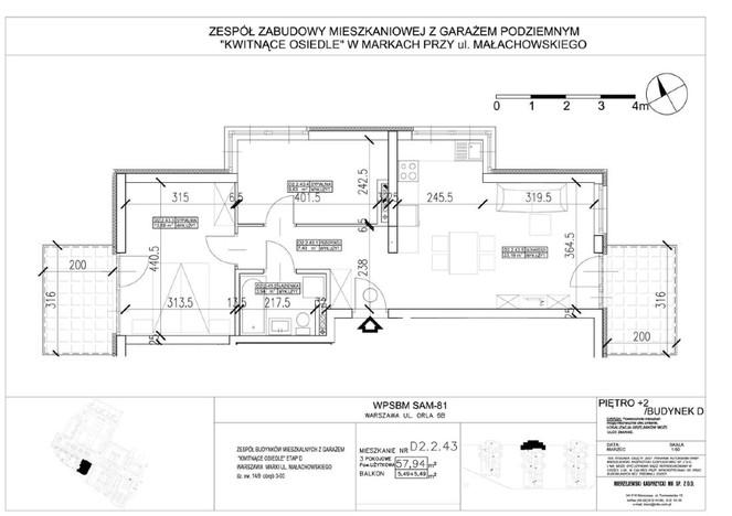 Mieszkanie w inwestycji Kwitnące Osiedle - budynek D, Marki, 58 m² | Morizon.pl | 8716