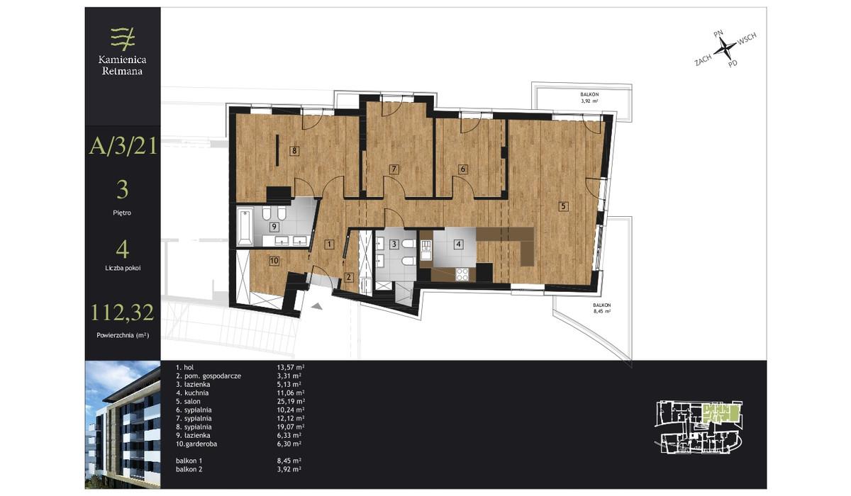 Mieszkanie w inwestycji Kamienica Retmana, Kraków, 112 m² | Morizon.pl | 9987