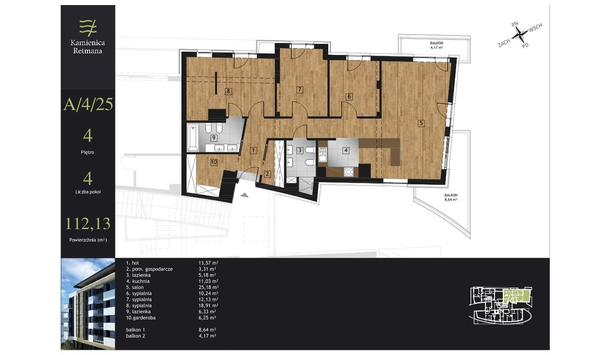 Mieszkanie w inwestycji Kamienica Retmana, Kraków, 112 m² | Morizon.pl | 9990