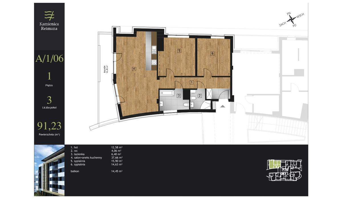 Mieszkanie w inwestycji Kamienica Retmana, Kraków, 91 m² | Morizon.pl | 9975