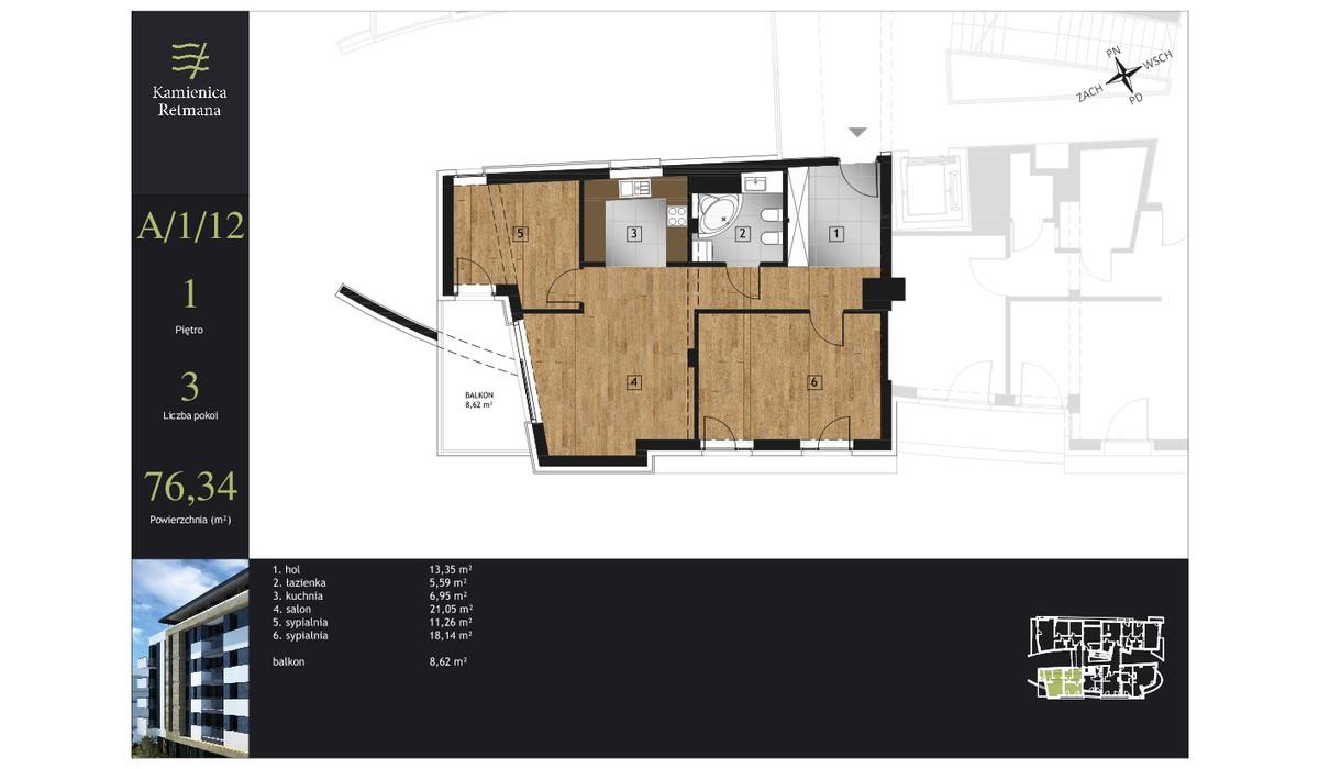 Mieszkanie w inwestycji Kamienica Retmana, Kraków, 76 m² | Morizon.pl | 9981