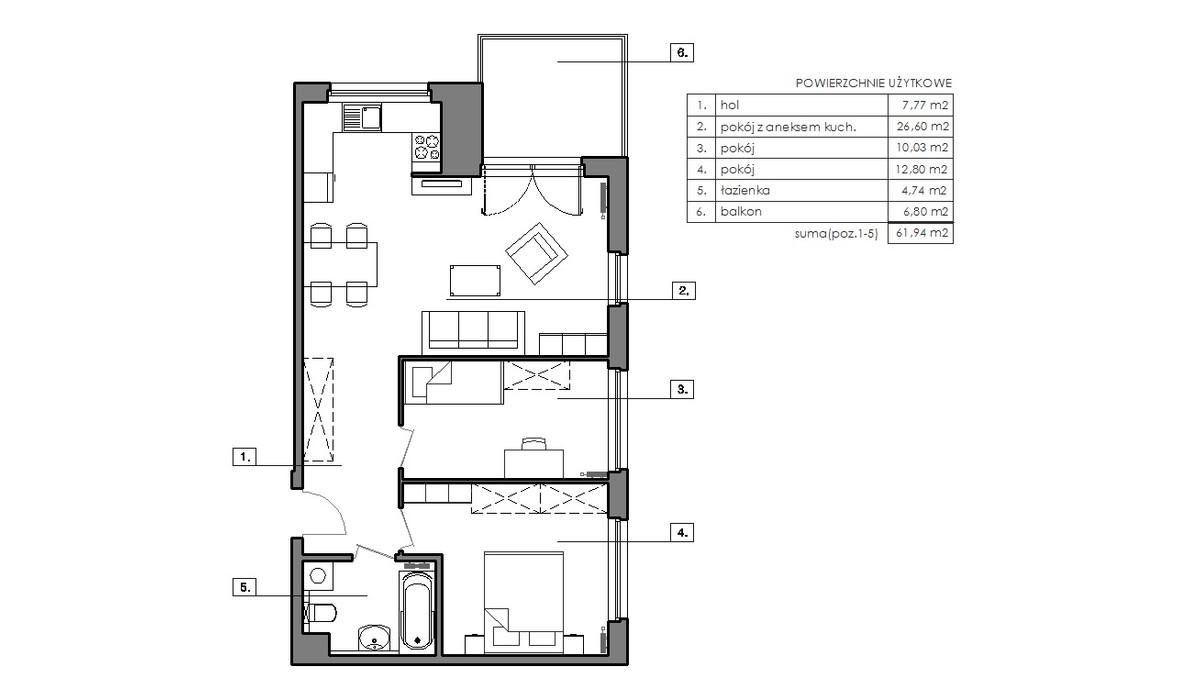 Mieszkanie w inwestycji Signum, Gdynia, 65 m²   Morizon.pl   6509