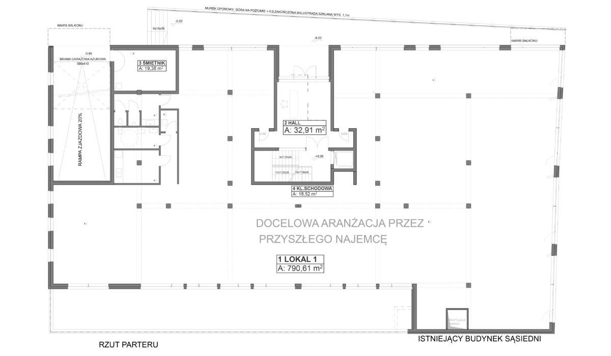 Lokal usługowy w inwestycji Oleander House, Opole, 785 m² | Morizon.pl | 0221