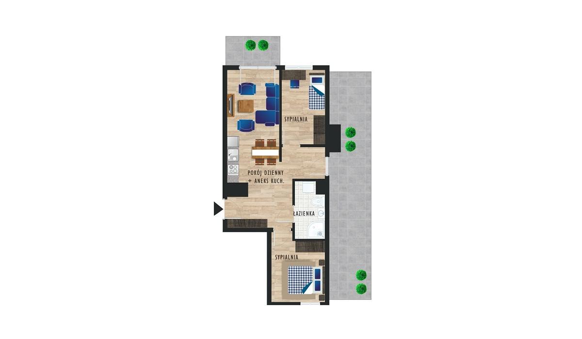 Mieszkanie w inwestycji Karoliny V, Katowice, 54 m²   Morizon.pl   0509