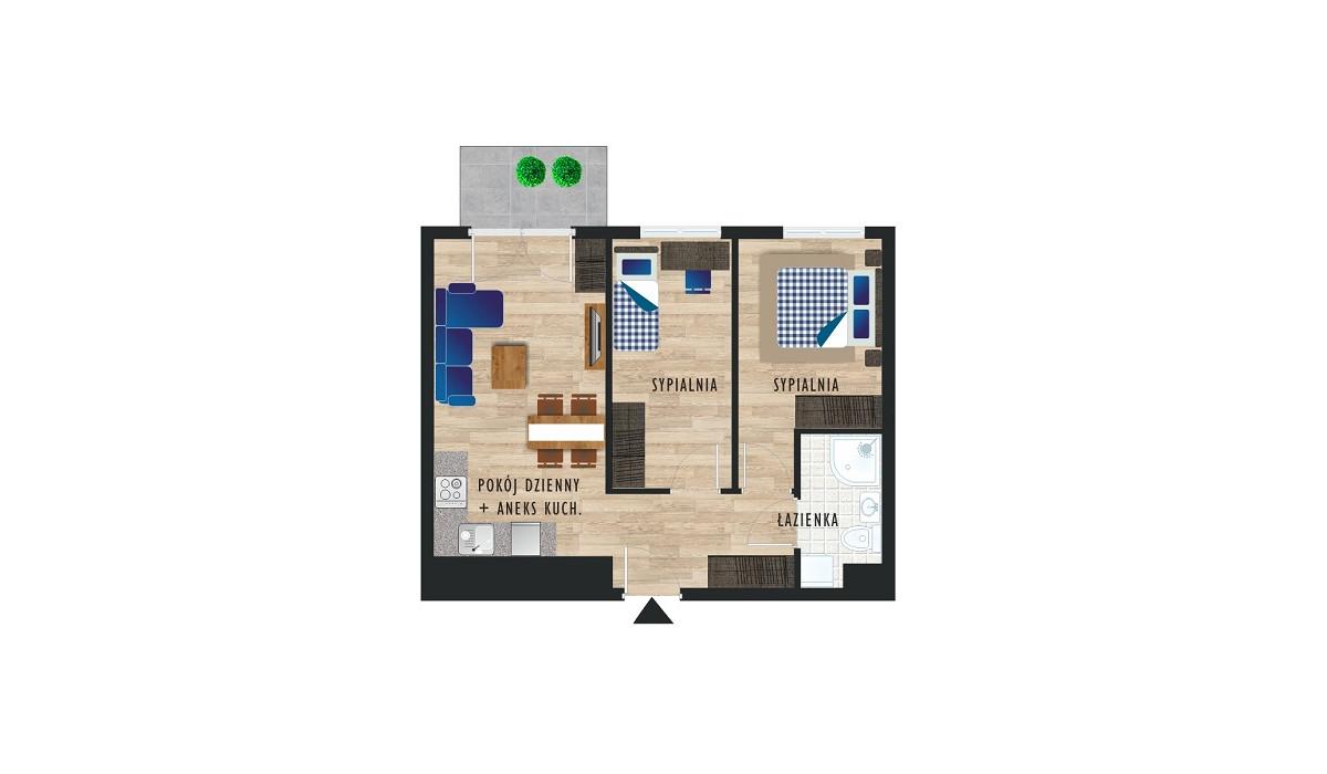 Mieszkanie w inwestycji Karoliny V, Katowice, 49 m² | Morizon.pl | 0470