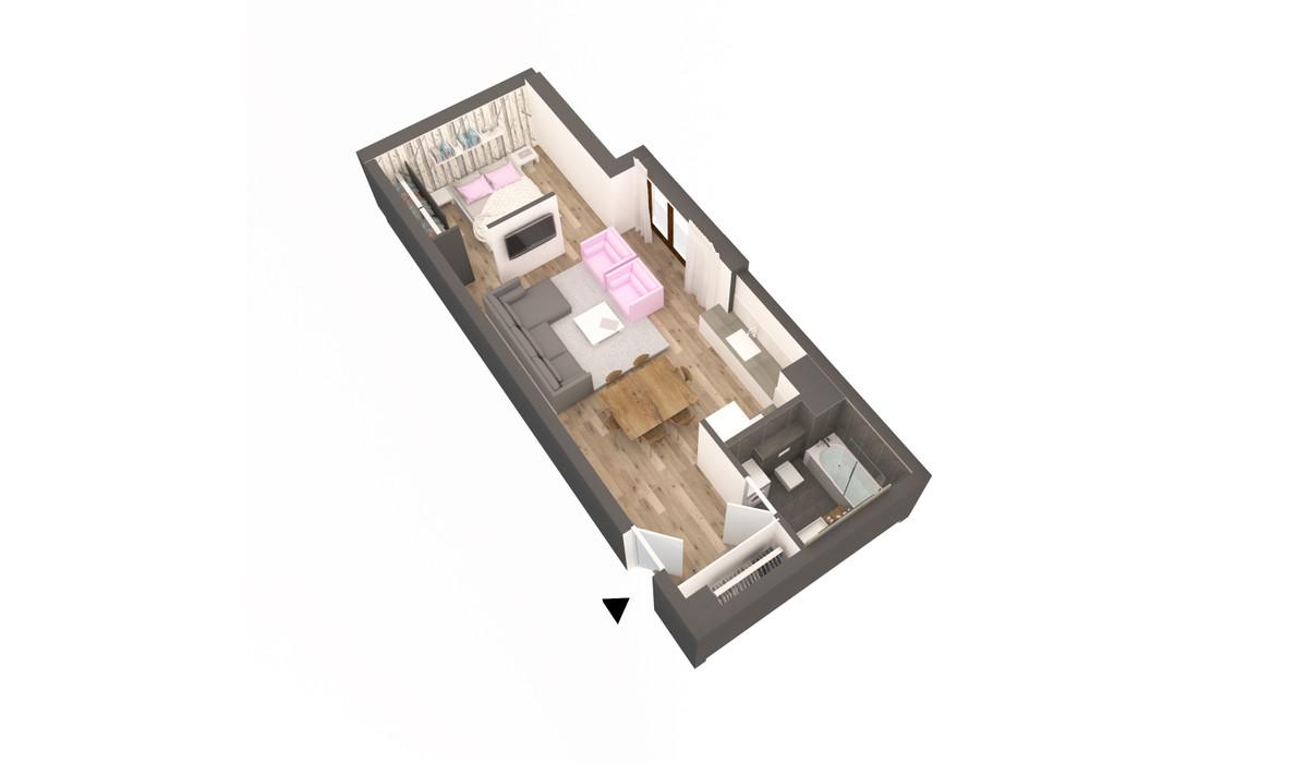 Mieszkanie w inwestycji APARTAMENTY DĄBROWSKIEGO, Kraków, 52 m²   Morizon.pl   3594