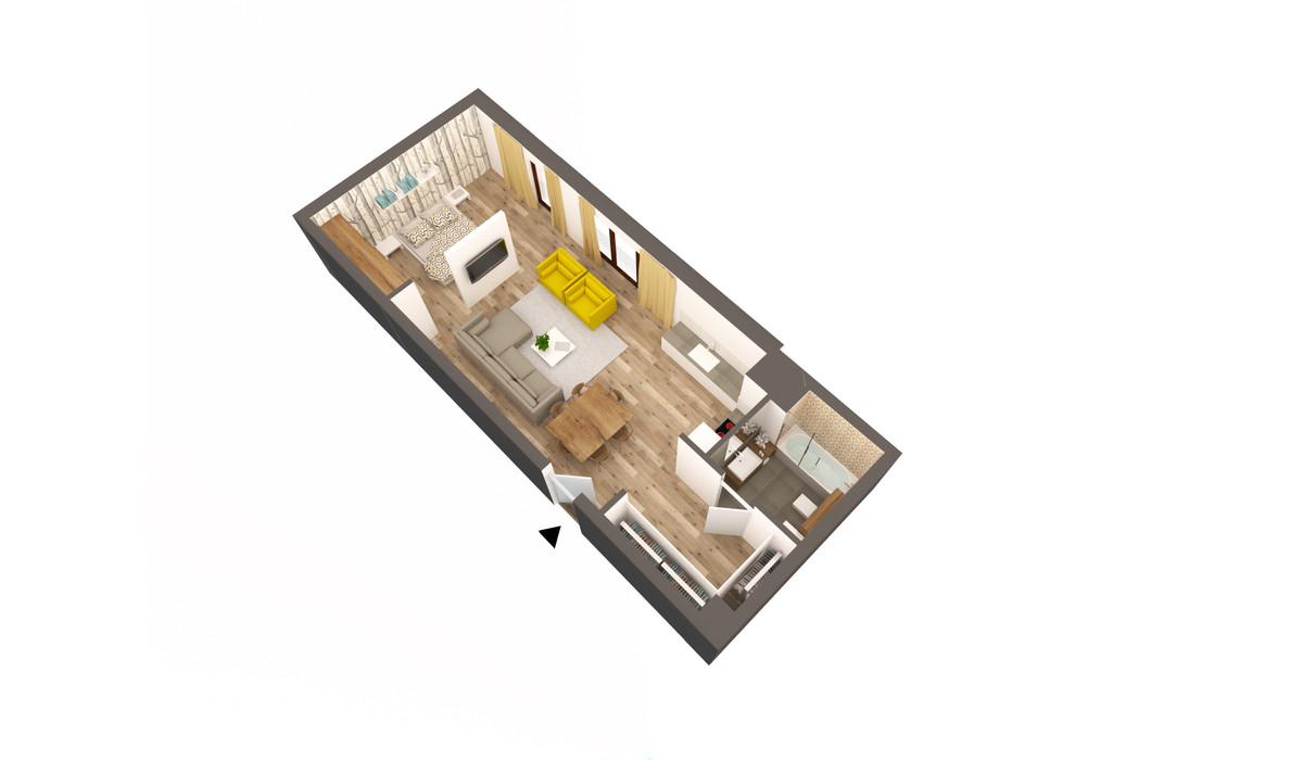 Mieszkanie w inwestycji APARTAMENTY DĄBROWSKIEGO, Kraków, 54 m²   Morizon.pl   3595