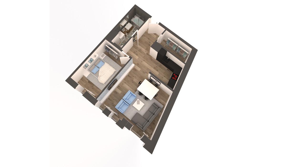 Mieszkanie w inwestycji APARTAMENTY DĄBROWSKIEGO, Kraków, 62 m²   Morizon.pl   3605