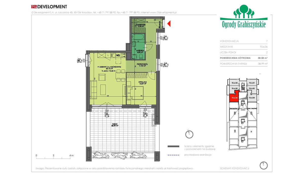 Mieszkanie w inwestycji Ogrody Grabiszyńskie, Wrocław, 59 m² | Morizon.pl | 4628