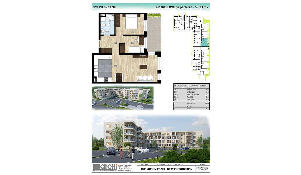 Mieszkanie w inwestycji Osiedle Kwiatkowskiego, Rzeszów, 59 m² | Morizon.pl | 0010
