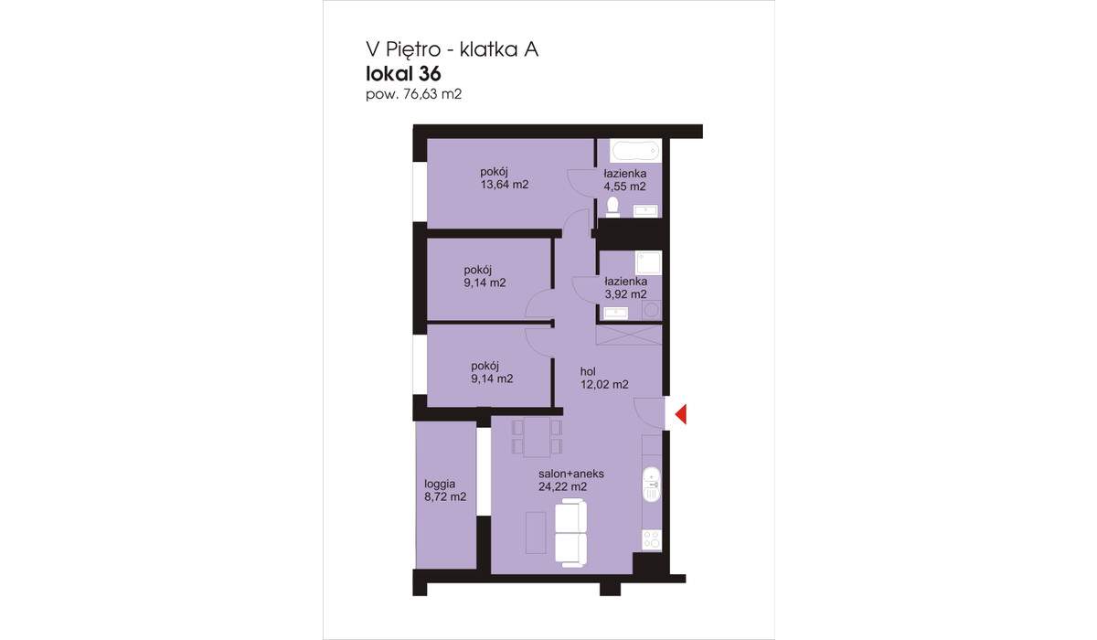 Mieszkanie w inwestycji IVY TOWERS2, Łódź, 77 m²   Morizon.pl   1910