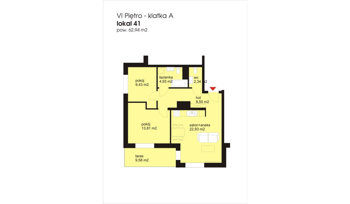 Mieszkanie w inwestycji IVY TOWERS2, Łódź, 63 m²   Morizon.pl   1915