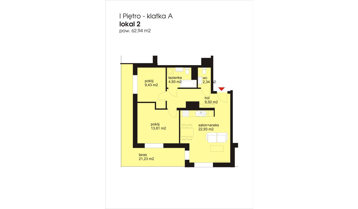 Mieszkanie w inwestycji IVY TOWERS3, Łódź, 63 m² | Morizon.pl | 1901