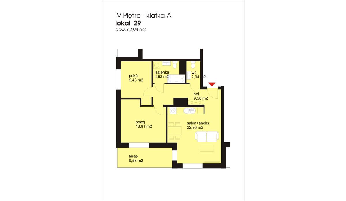 Mieszkanie w inwestycji IVY TOWERS3, Łódź, 63 m² | Morizon.pl | 2029