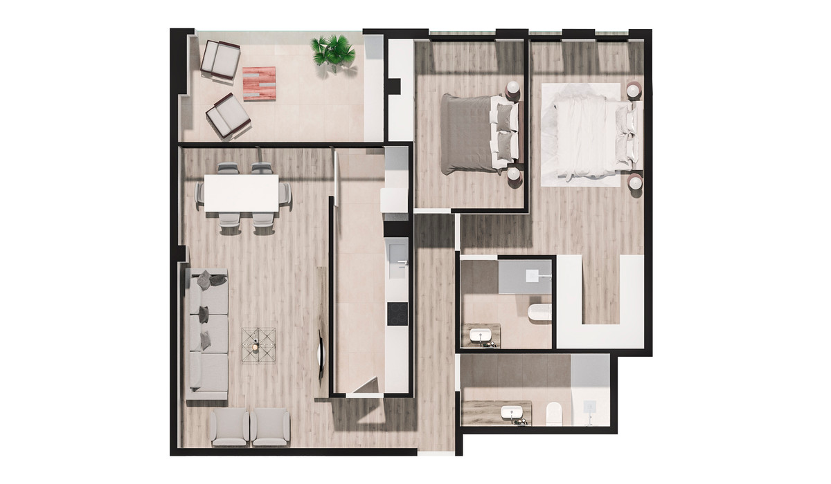 Mieszkanie w inwestycji PORTAL DEL MAR (BUILDING IN GUARDAMAR..., Hiszpania Walencja Alicante Guardamar Del Segura, 106 m² | Morizon.pl | 3312