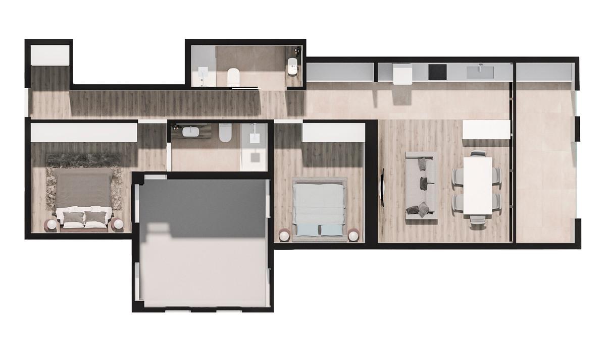 Mieszkanie w inwestycji PORTAL DEL MAR (BUILDING IN GUARDAMAR..., Hiszpania Walencja Alicante Guardamar Del Segura, 85 m² | Morizon.pl | 3315