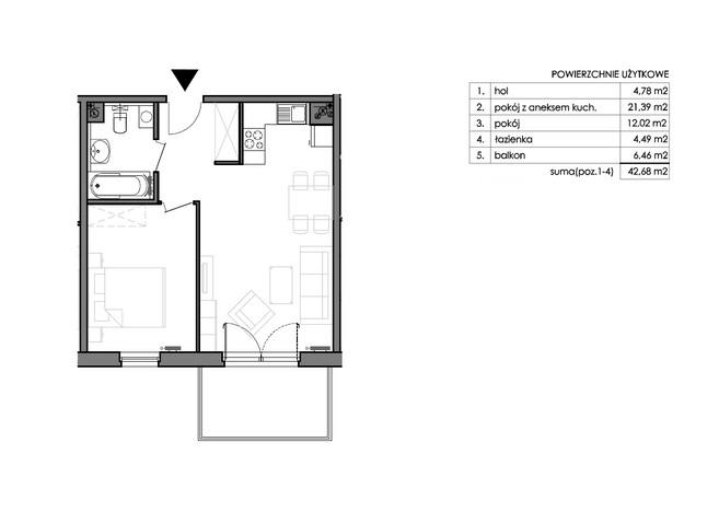 Mieszkanie w inwestycji Signum, Gdynia, 44 m² | Morizon.pl | 0122