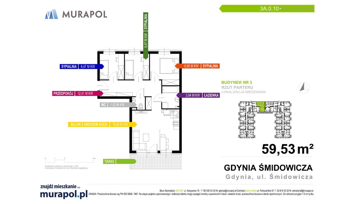 Mieszkanie w inwestycji Murapol Nadmorskie Tarasy, Gdynia, 60 m² | Morizon.pl | 1668