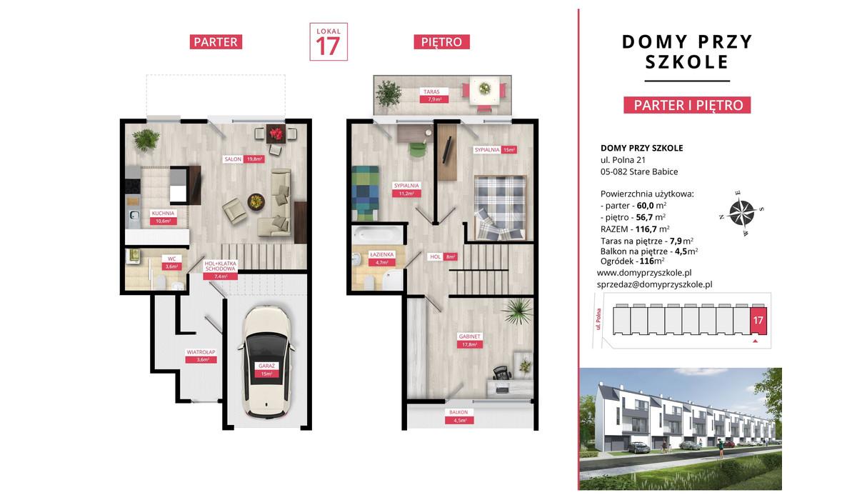 Mieszkanie w inwestycji Domy Przy Szkole, Stare Babice, 116 m² | Morizon.pl | 4904