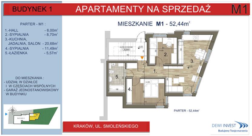 Mieszkanie w inwestycji Apartamenty nad Wilgą, Kraków, 52 m² | Morizon.pl | 5759